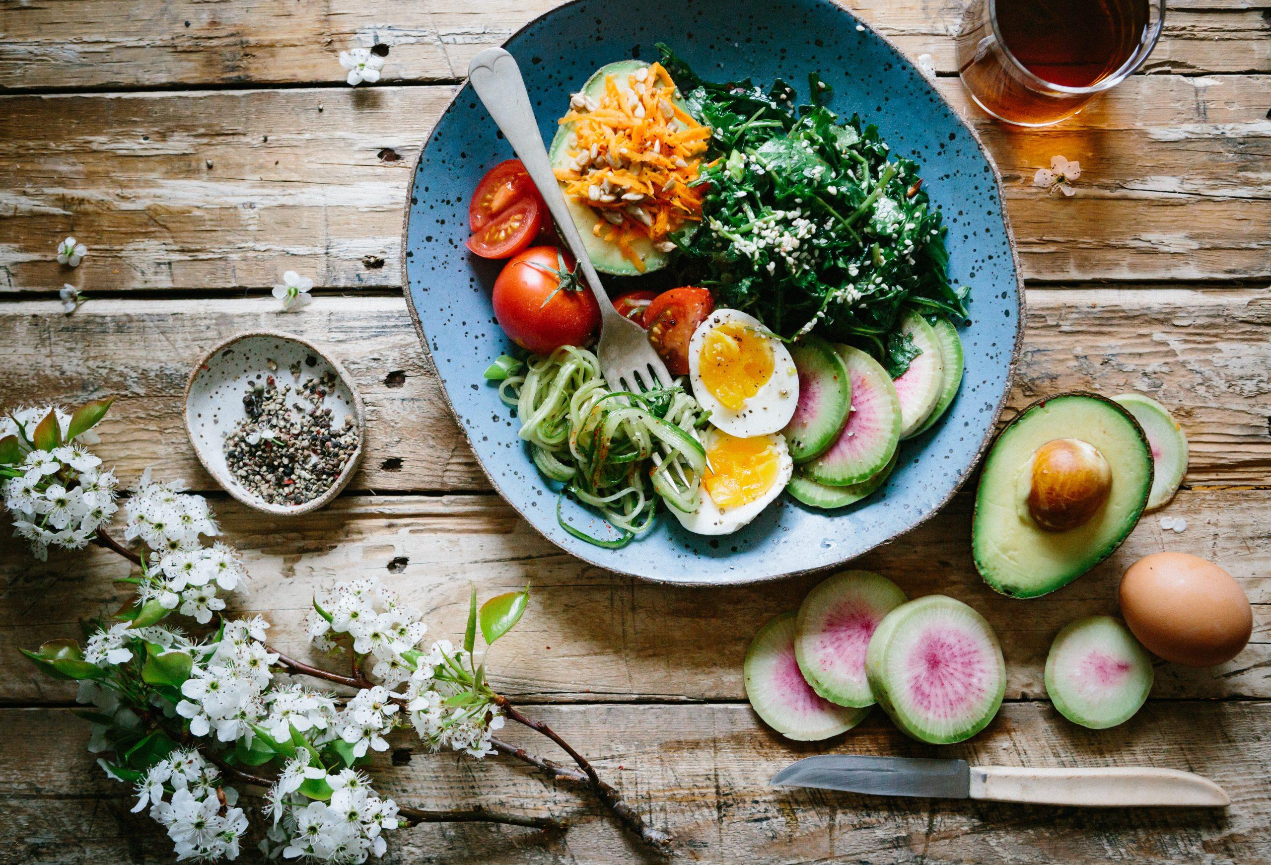 un repas diététique